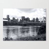 pittsburgh Canvas Prints featuring Pittsburgh by Joyce E. Wasser