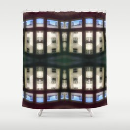Apartment blues Shower Curtain