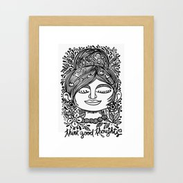 Think Good Thoughts Framed Art Print