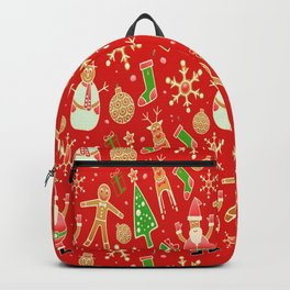 Christmas Collage Backpack
