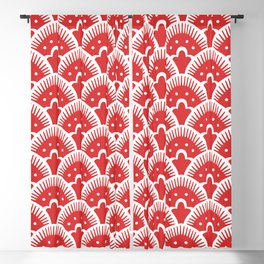 Fan Pattern Red 201 Blackout Curtain