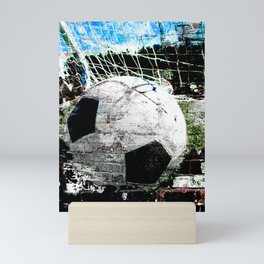 Modern soccer ball art vs 8 Mini Art Print