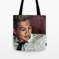 rap Tote Bags featuring Rap Monster by LSC.