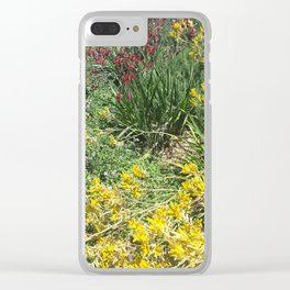 Red and Yellow Plants Clear iPhone Case