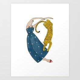 The big kitty dance Art Print