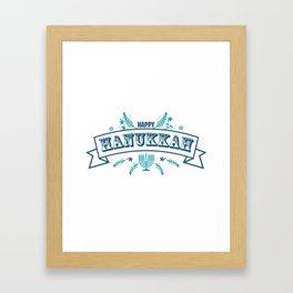 The first day of Hanukkah Framed Art Print