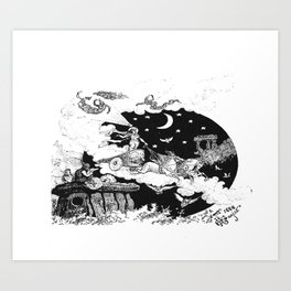 Moon carriage Art Print