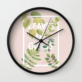 Leaves of Grass, Walt Whitman, book cover illustration, american poetry collection, flowers art Wall Clock