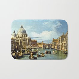 Canaletto Bernardo Bellotto  -  The Entrance To The Grand Canal  Venice Bath Mat
