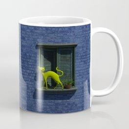 The Yellow Cat - Window By THE-LEMON-WATCH Coffee Mug