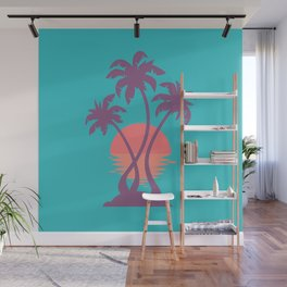 3 Palm Sunset Wall Mural