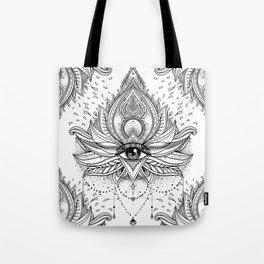 Lotus flower + All seeing eye. Tote Bag