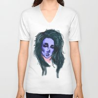 lana V-neck T-shirts featuring Lana by icanbeme