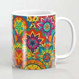 Funky Retro Pattern Mandalas Coffee Mug
