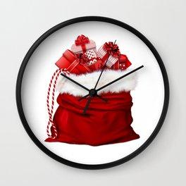 Christmas gifts bag #society6 #decor #buyart Wall Clock