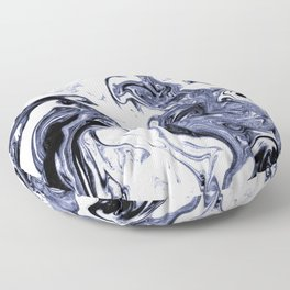 Marble Suminagashi watercolor pattern art pisces water wave ocean minimal design Floor Pillow