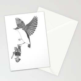nuthatch builds his army Stationery Cards