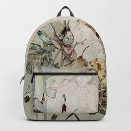 """""""Exotics at Play"""" by Duncan Carse Backpack"""