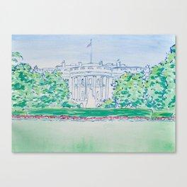 White House Print Canvas Print