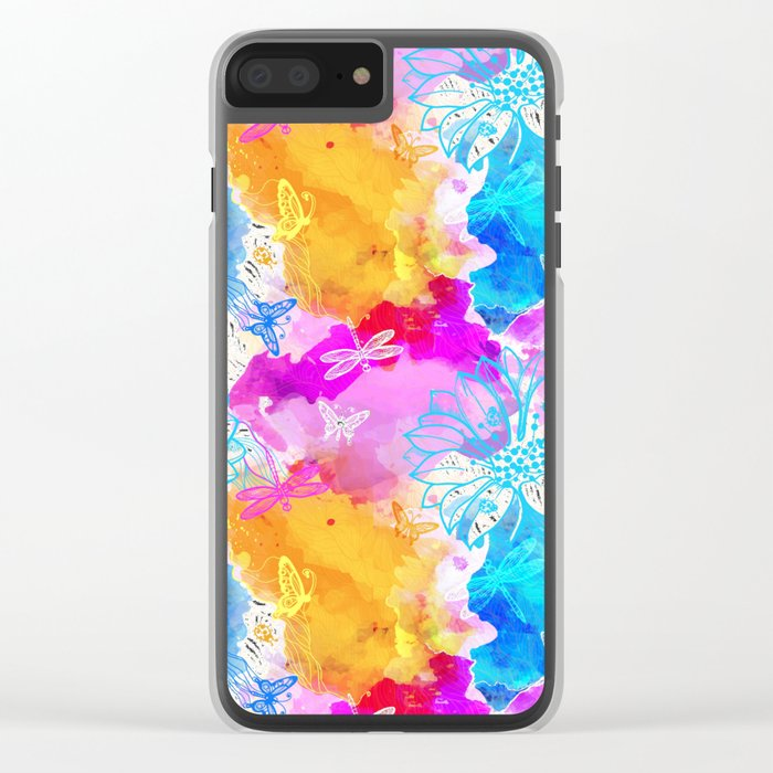 Floral Pattern 11 Clear iPhone Case
