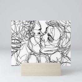 Boys kiss too Mini Art Print