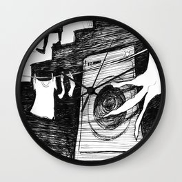 Laundry Room: Nightmares Are REAL! Wall Clock