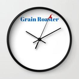 Grain Roaster Ninja in Action Wall Clock