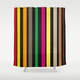 bold stripes and color Shower Curtain