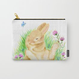 Snoozing Hare Carry-All Pouch