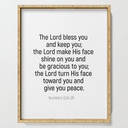 Numbers 6 24 #bibleverse #scriptures #blessing Serving Tray