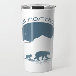 Asheville - Mountains & Black Bears - AVL 11 Greyblue Travel Mug