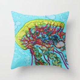Jellyfish 2 - alcohol ink Throw Pillow