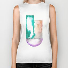 180914 Minimalist Geometric Watercolor 7 Biker Tank