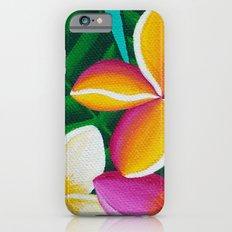 Three Pretty Plumerias Slim Case iPhone 6