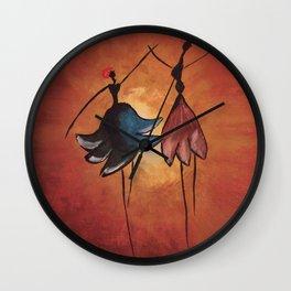 african girls Wall Clock