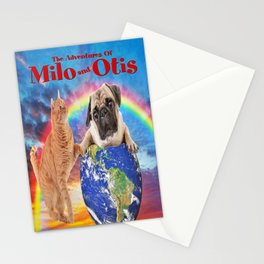 Milo And Otis Take On The World Stationery Cards