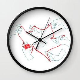 Fil rouge Wall Clock