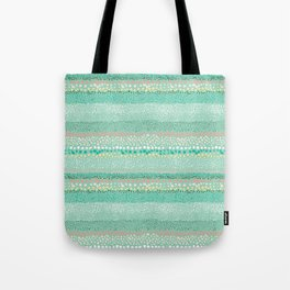 Little Textured Dots Greeen Tote Bag
