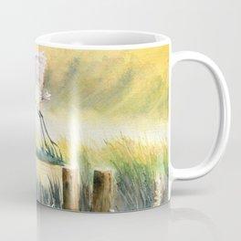 Egret Flying Over Marsh  Coffee Mug