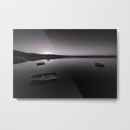 Boats on Knysna Lagoon at sunrise Metal Print