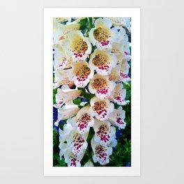 Lovely Spotted Flowers Art Print