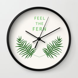 Feel the Fern Wall Clock