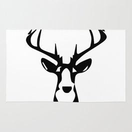 ''Nowhere Collection'' - Deer Face Print Rug