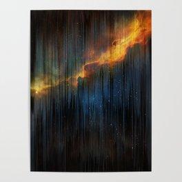 Planet Pixel Fall Down Poster