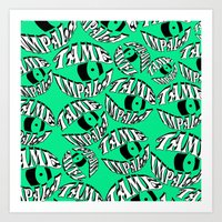 tame impala Art Prints featuring TAME IMPALA EYES2 by Queen Lizard
