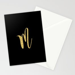 Glitter Gold M is the New Black Stationery Cards