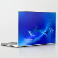 fairies Laptop & iPad Skins featuring Fairies winter by Enri-Art