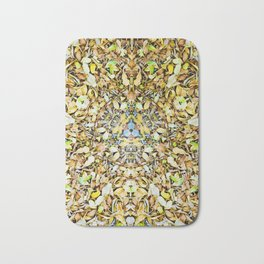 A Circle of Leaves Bath Mat
