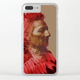 Walla Walla American Indian & Red Sumac Clear iPhone Case