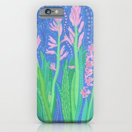 Hyacinths, Spring Flowers, Decorative Floral iPhone Case